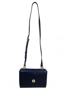Tommy Hilfiger Damen Handtasche Tasche TH Smooth Crossover Blau