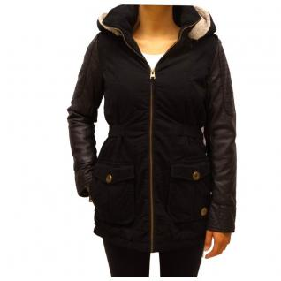 Authentic Style Winterjacke Damen Urban Surface Parka Jacke Schwarz M