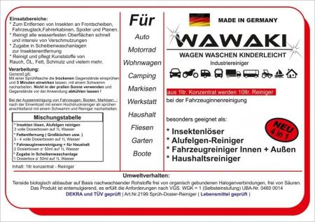 1 Liter Konzentrat Wawaki rot Motorrad Reiniger - Vorschau 2