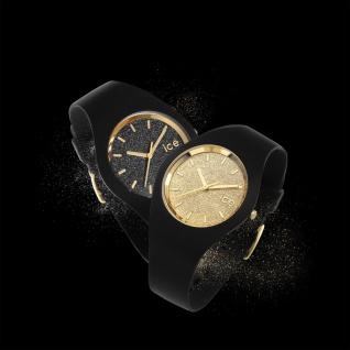 Ice-Watch ICE GLITTER Black Rose Gold Small Damenuhr Silikon schwarz - Vorschau 2