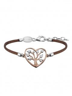 Julie Julsen JJBR0234.4 Damen Armband Baum Bicolor Rose Braun 19 cm