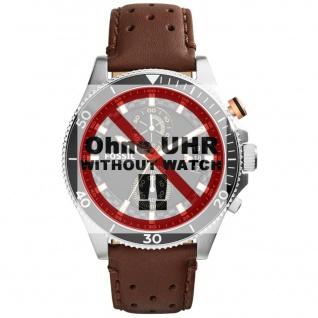 Fossil Uhrenarmband LB-CH2944 Original Ersatzband Leder 22 mm Braun