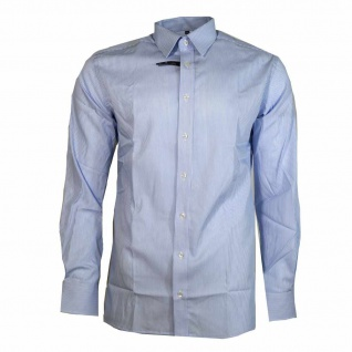 Eterna Hemd Langarm Modern Fit Blau Weiß gestreift XXL/45 4036/12/X148