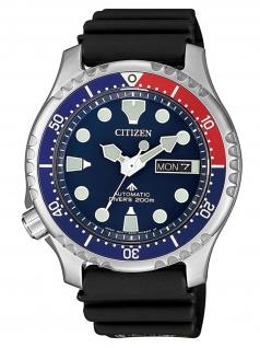 Citizen NY0086-16L Diver Uhr Herrenuhr Kautschuk Datum Schwarz