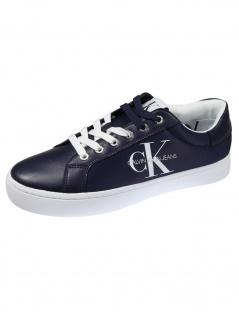 Calvin Klein Herren Schuhe Cupsole Sneaker Laceup PU Blau