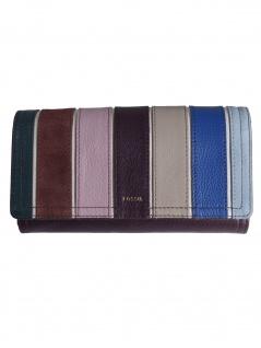 Fossil Damen Geldbörse RFID LOGAN Flap Leder Mehrfarbig SL7847-564 - Vorschau 1