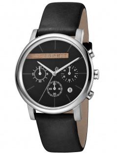 Esprit ES1G040L0025 Vision Black Herrenuhr Edelstahl Chrono Datum