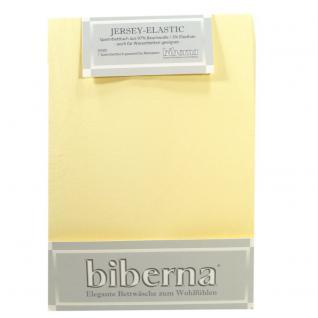 Biberna Jersey Elastic Spannbetttuch Hellgelb 120 x 200 - 130 x 220
