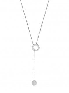 Esprit ESNL00492170 Damen Collier Loop Edelstahl Silber Weiß 70 cm