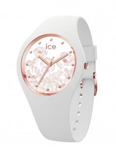 Ice-Watch 016669 ICE flower Spring white M Uhr Damenuhr Kautschuk Weiß