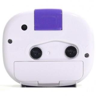 W&S 600105 Wecker Uhr lila-weiß Analog Licht Alarm - Vorschau 3