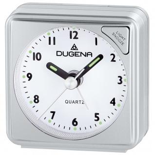 DUGENA 4460616 Wecker Analog Licht Alarm silber