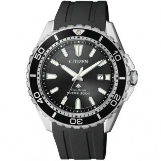 Citizen BN0190-15E Eco-Drive Promaster Sea Silikon Uhr Datum Schwarz