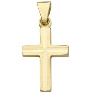 Basic Gold TG05 Kinder Anhänger Kreuz 14 Karat (585) Gelbgold