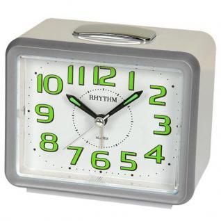RHYTHM CRF802NR19 Wecker Uhr Alarm Weiss