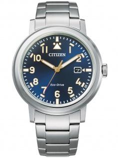 Citizen AW1620-81L Eco Drive Uhr Herrenuhr Edelstahl Datum blau