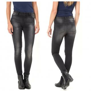 Vero Moda Damen Jeans Hose SEVEN NW Slim Charm Jeans Schwarz 26W / 32L