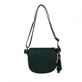 Esprit Wendy Saddlebag Grün Leder Handtasche Schulter Umhänge Tasche