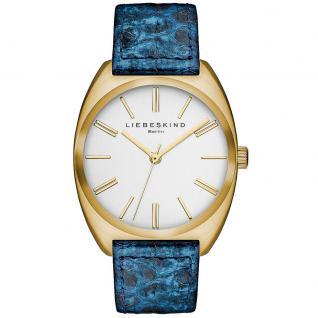 LIEBESKIND LT-0035-LQ Uhr Damenuhr Lederarmband blau