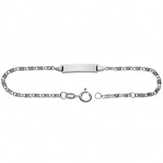Basic Silber SK26 Kinder Armband Schildarmband Silber 16 cm