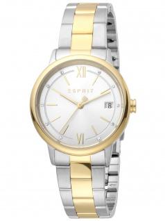 Esprit ES1L181M0115 Kaya Ladies Silver Gold Uhr Damenuhr Datum bicolor