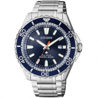 Citizen BN0191-80L Eco-Drive Promaster Sea Edelstahl Uhr Datum Silber