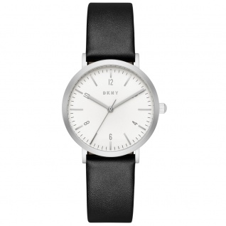 DKNY NY2506 MINETTA Uhr Damenuhr Lederarmband Schwarz