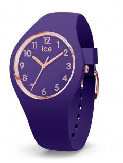 Ice-Watch 015965 ICE glam colour Violett Small 3H Damenuhr Kautschuk