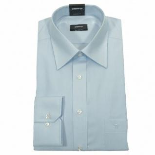 Eterna Herrenhemd 1100/10/E198 Comfort Fit Hellblau Gr. M/40