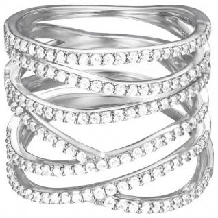 Esprit Damen Ring ES-BRILLIANCE GLAM Silber Weiß 56 (17.8)
