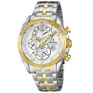 FESTINA F16655/1 SPORT Chronograph Uhr Herrenuhr Stahl bicolor gold