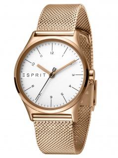 Esprit ES1L034M0085 Essential Silver Rose Mesh L Damenuhr Edelstahl