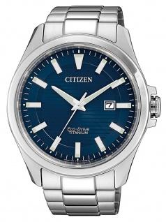 Citizen BM7470-84L Eco-Drive Uhr Herrenuhr Titan Datum Silber