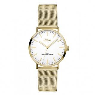 s.Oliver SO-3271-MQ Uhr Damenuhr Edelstahl Gold