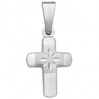 Basic Silber SKE12 Damen Anhänger Kreuz Silber