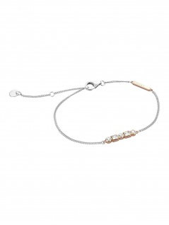 Esprit ESBR00521217 Damen Armband Flow Bicolor Rose Weiß 21 cm
