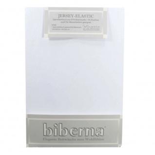 Biberna Jersey Elastic Spannbetttuch Hellgrau 140 x 200 - 160 x 220