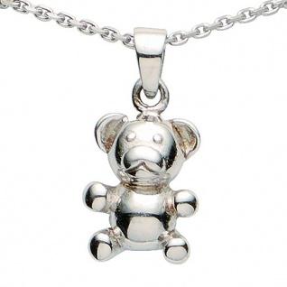 Basic Silber 21.KS106 Mädchen Collier Teddybär Silber 36 cm