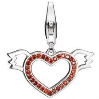 Esprit Charm ESCH90907A Silber lovely angel XL Herz mit Flügeln rot