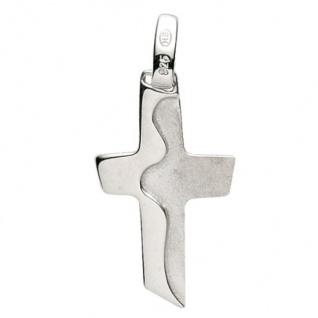 Basic Silber 27.9153S Damen Anhänger Kreuz Silber