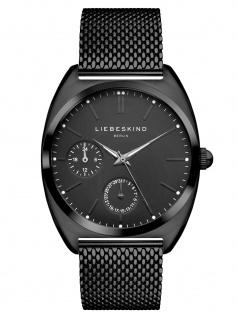 LIEBESKIND LT-0040-MM Uhr Damenuhr Edelstahl Datum Schwarz