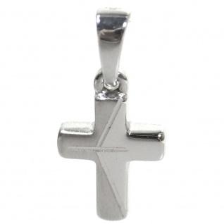 Basic Silber SKE50 Kinder Anhänger Kreuz Silber