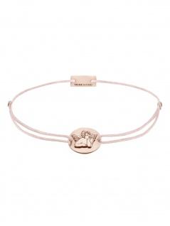 MOMENTOSS 21202177 Damen Armband Filo Schutzengel Rose hellrosa 19 cm