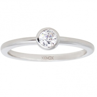XENOX XS7279 Damen Ring Silver Circle Silber weiß 54 (17.2)