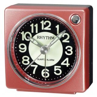 RHYTHM CRE823NR01 Wecker Uhr Alarm Schwarz
