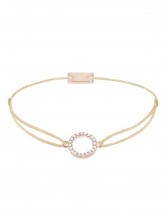 MOMENTOSS 21203487 Armband Filo Kreis Rose braun-beige 25, 5 cm
