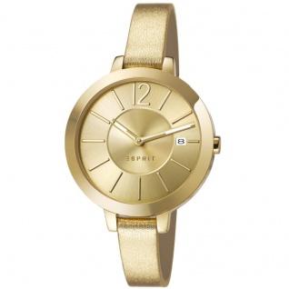 Esprit ES107242003 amelia metallic gold Uhr Leder Datum gold
