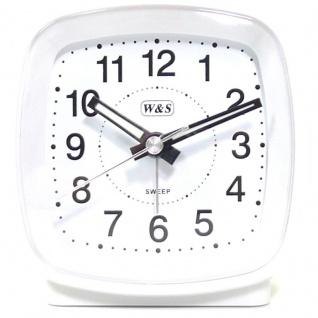 W&S Wecker 201352-weiß leise Sekunde