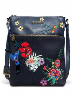 Desigual Damen Handtasche Tasche Surprise Ghana Blau