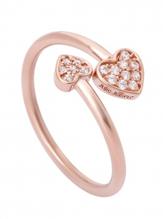 Julie Julsen JJFRG0395.2 Damen Ring Herzen Feelings Rose Weiß